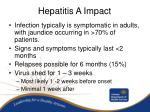 hepatitis a impact