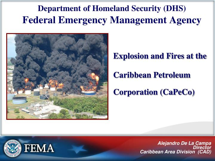 explosion and fires at the caribbean petroleum corporation capeco n.
