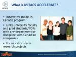 what is mitacs accelerate