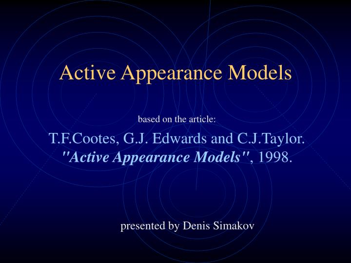 active appearance models n.