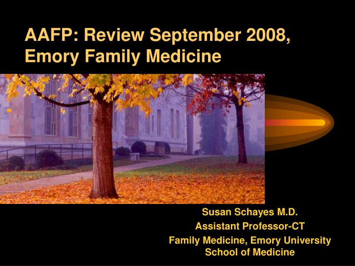 aafp review september 2008 emory family medicine n.