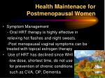 health maintenace for postmenopausal women1