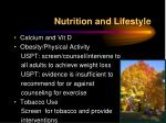 nutrition and lifestyle