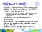 agent based modelling