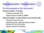 geocomputation geosimulation
