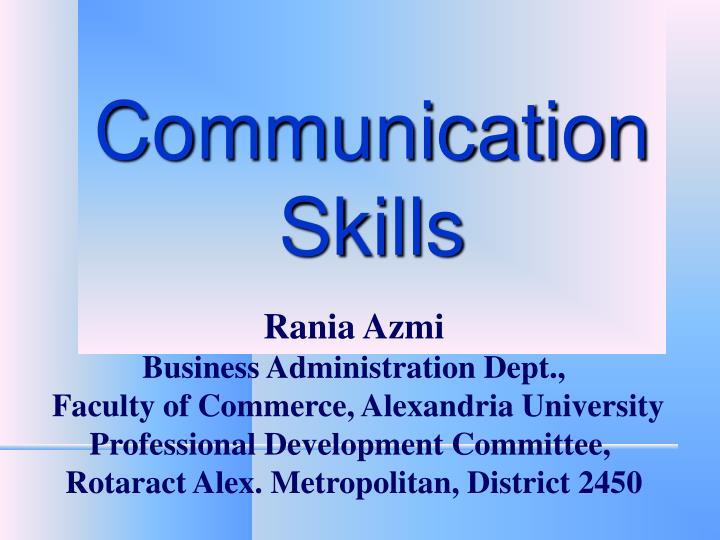 communication skills n.