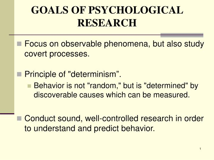goals of psychological research n.