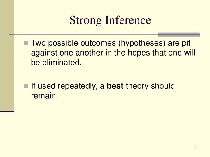 Strong Inference