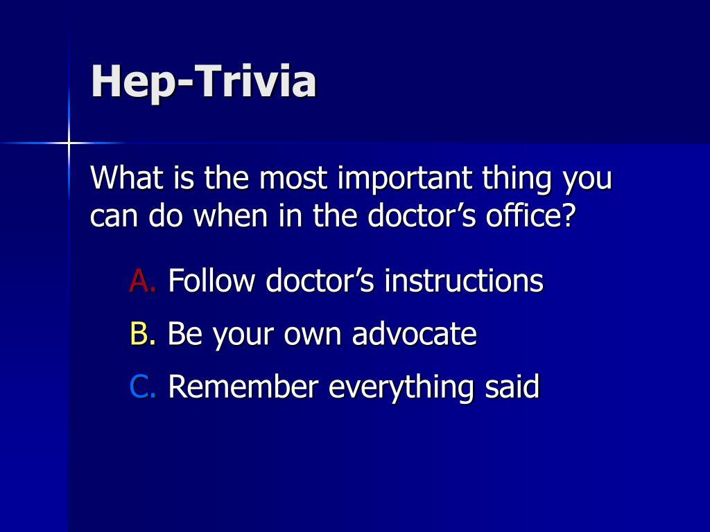 Hep-Trivia