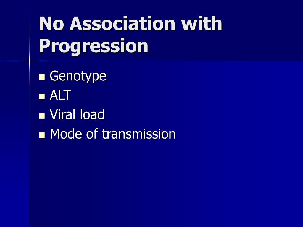 No Association with Progression