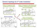 generic topology for 3 rd order modulator