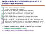 proposed method automated generation of classification schemes