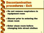 decontamination procedures exit1