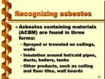 recognizing asbestos