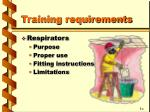 training requirements2