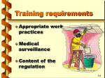 training requirements3