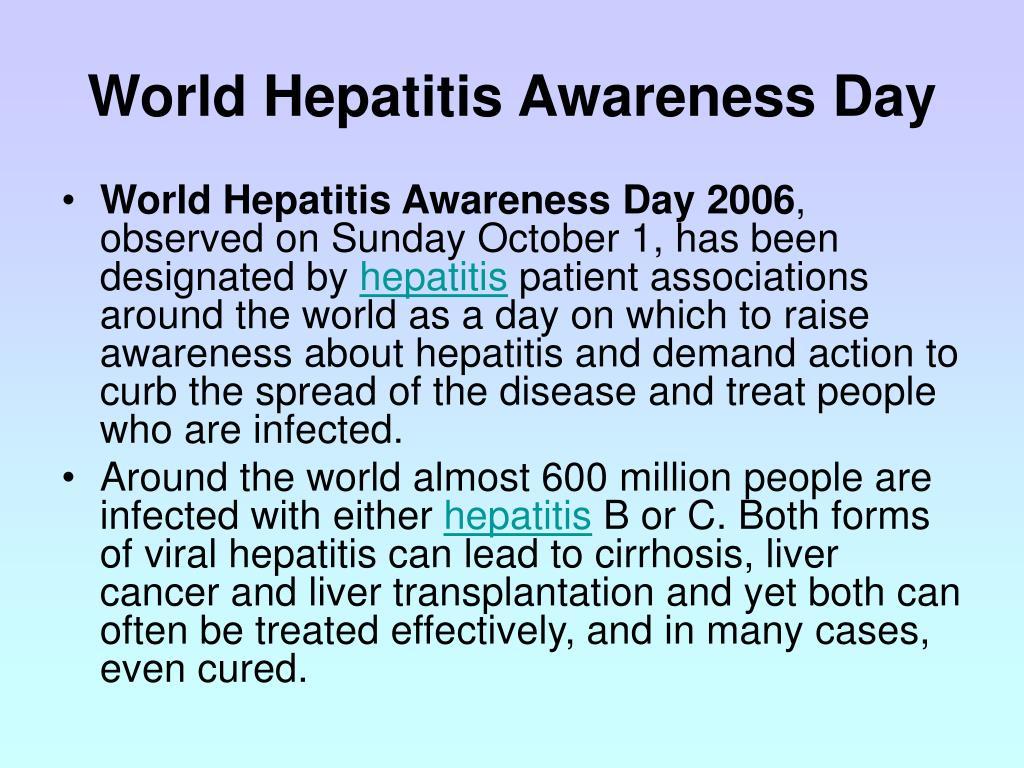 World Hepatitis Awareness Day