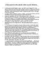 l educazione alla salute nella scuola italiana