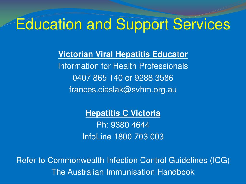 Education and Support Services