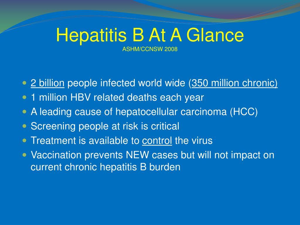 Hepatitis B At A Glance