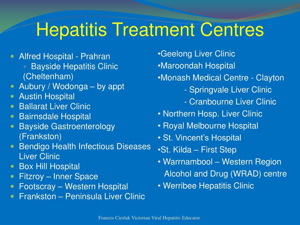 Hepatitis Treatment Centres