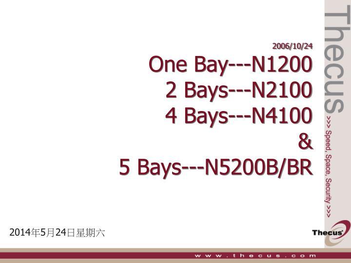 2006 10 24 one bay n1200 2 bays n2100 4 bays n4100 5 bays n5200b br n.
