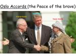 oslo accords the peace of the brave