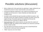 possible solutions discussion