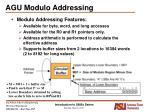 agu modulo addressing