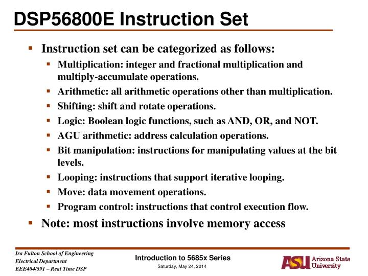 dsp56800e instruction set n.