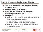 instructions accessing program memory