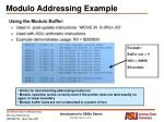 modulo addressing example