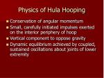 physics of hula hooping