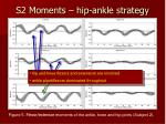 s2 moments hip ankle strategy