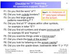 checklist for f searching all questions support rule f