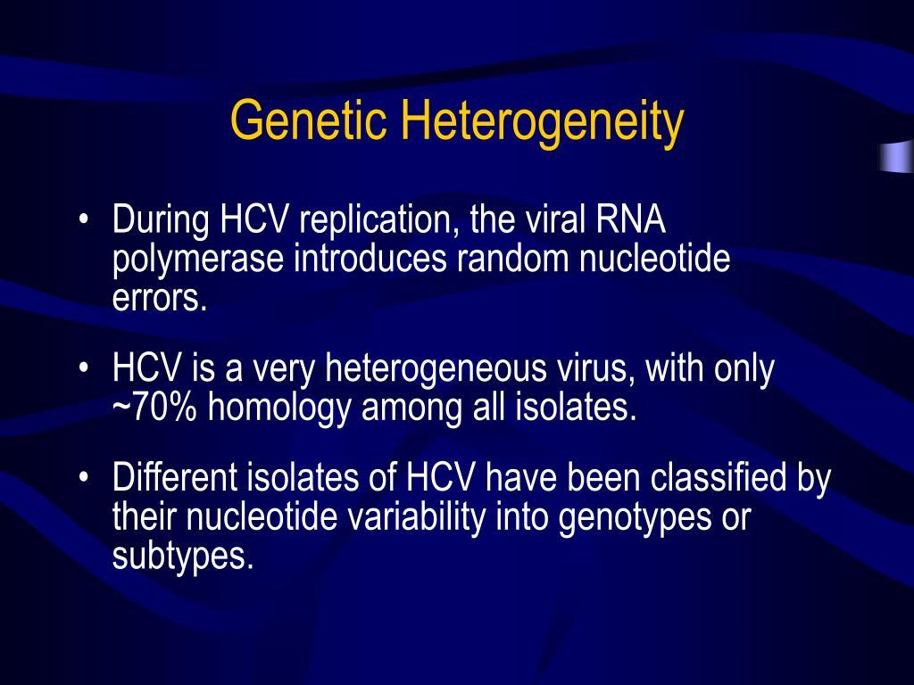 Genetic Heterogeneity