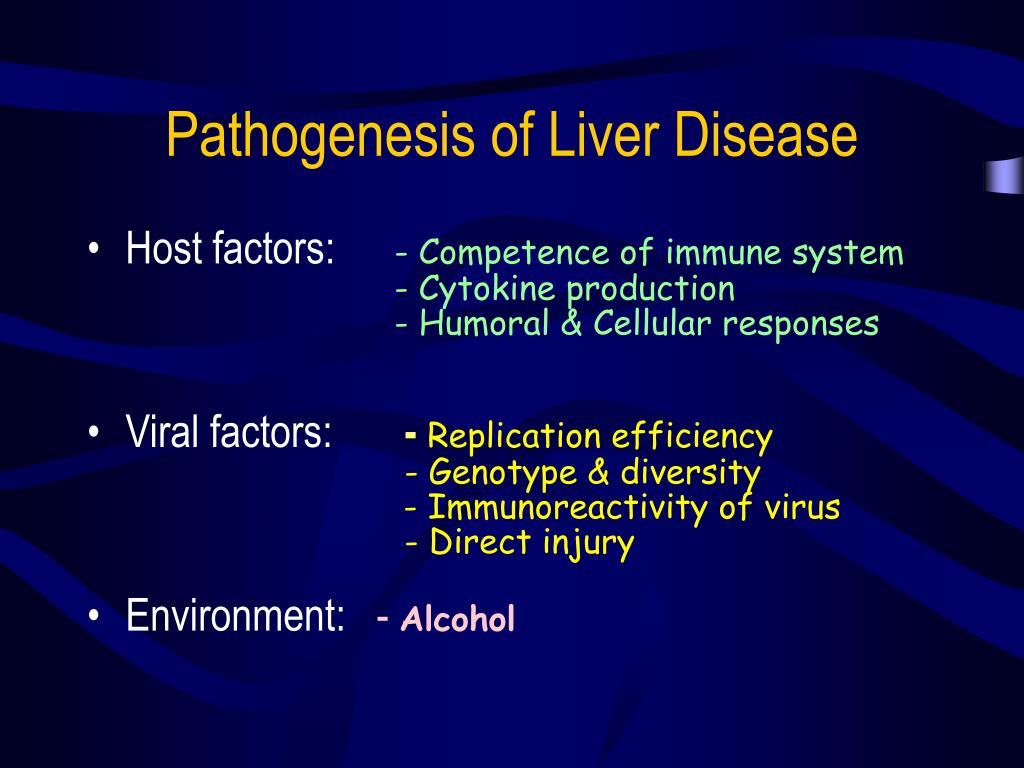 Pathogenesis of Liver Disease