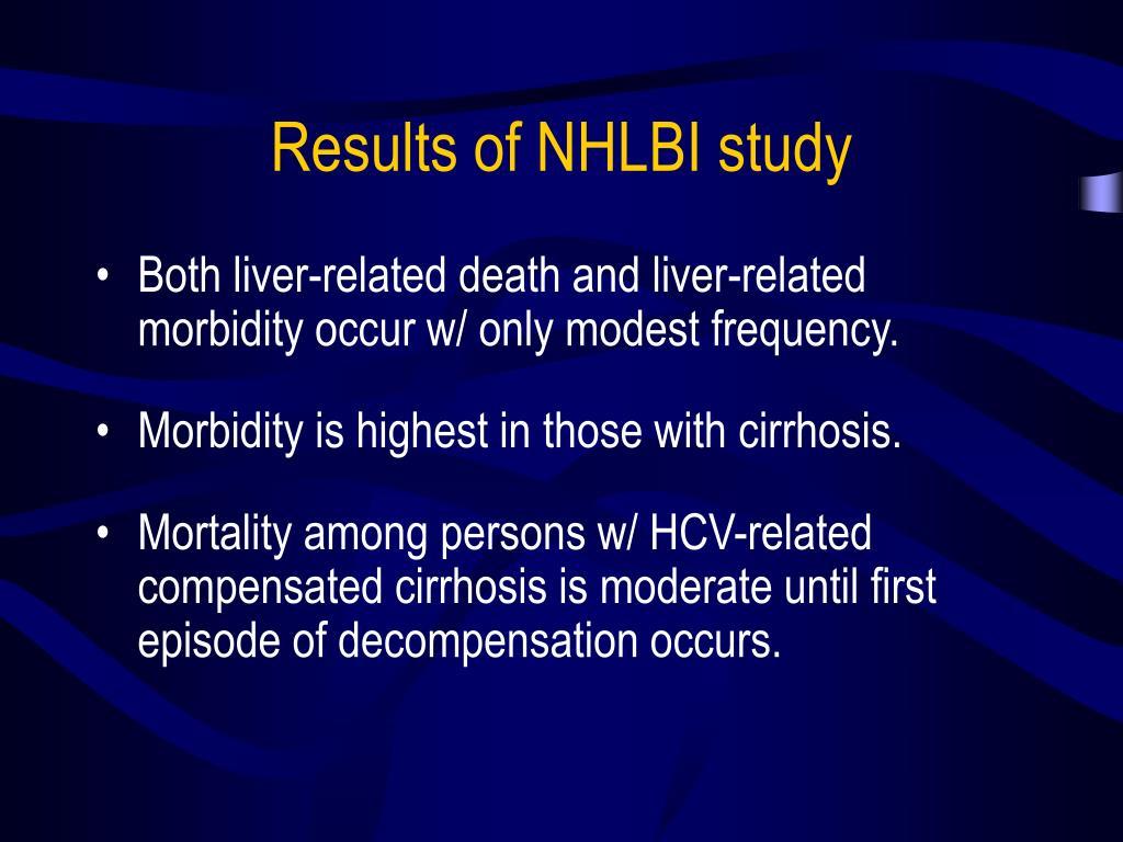 Results of NHLBI study