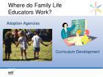 where do family life educators work3