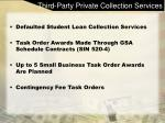 third party private collection services