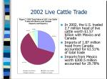 2002 live cattle trade