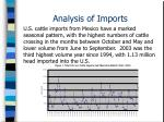 analysis of imports