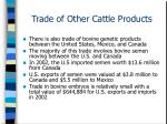 trade of other cattle products