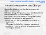 attitude measurement and change