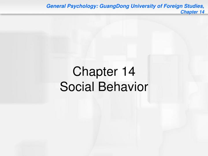 chapter 14 social behavior n.