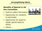 accomplishing work topic 1 special or ad hoc committees1