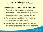 accomplishing work topic 3 how to develop committee guidelines1
