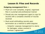 lesson 8 files and records8