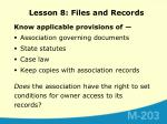lesson 8 files and records9