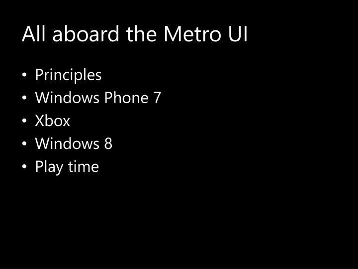 all aboard the metro ui n.
